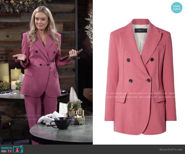 Cady Double-Breasted Blazer by Derek Lam worn by Abby Newman (Melissa Ordway) on The Young & the Restless