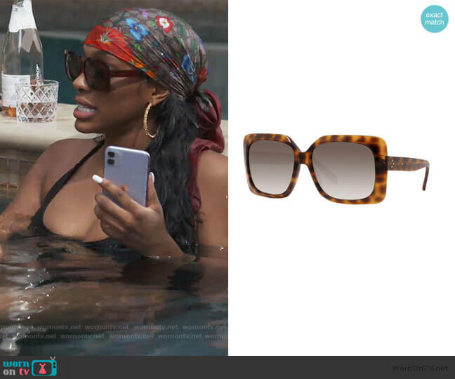 Square Acetate Sunglasses by Celine worn by Porsha Williams  on The Real Housewives of Atlanta