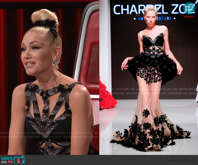 Spring Summer 2020 Dress by Charbel Zoe worn by Gwen Stefani  on The Voice