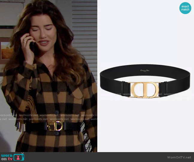 Christian Dior 30 Montaigne Belt worn by Steffy Forrester (Jacqueline MacInnes Wood) on The Bold & the Beautiful