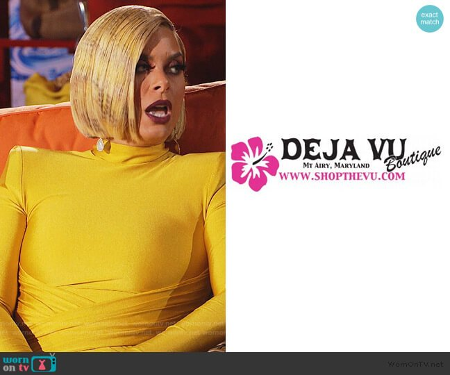 Custom Dress by Deja Vu Boutique worn by Robyn Dixon  on The Real Housewives of Potomac