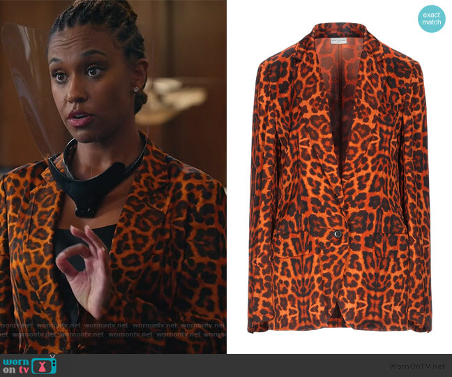 Sartorial Jacket by Dries Van Noten worn by Rachel Audubon (Michelle Bathe) on All Rise