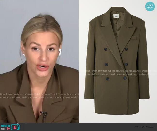 Julie Double-Breasted Blazer by Frankie Shop worn by Morgan Stewart  on E! News