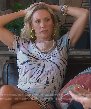 Braunwyn's tie dye mini dress on The Real Housewives of Orange County