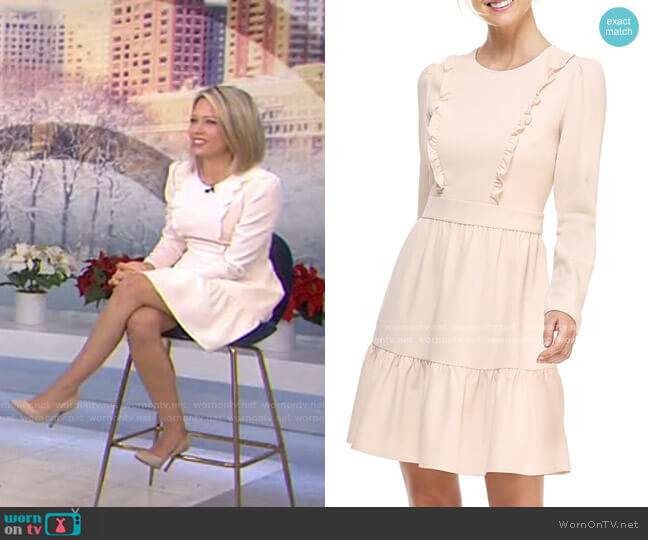 Hayley Ruffle Detail Long Sleeve Dress by Gal Meets Glam worn by Dylan Dreyer  on Today