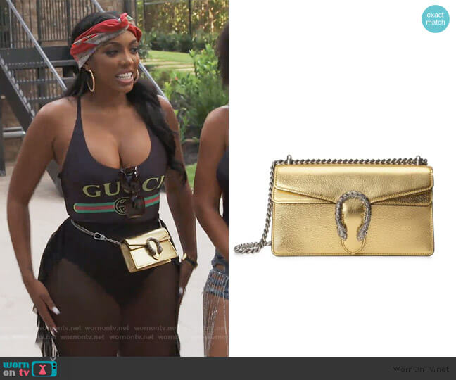 Small Dionysus Shoulder Bag by Gucci worn by Porsha Williams  on The Real Housewives of Atlanta