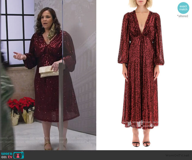 Irina Sequined Dress by In The Mood For Love worn by Sara Castillo (Lindsay Mendez) on All Rise