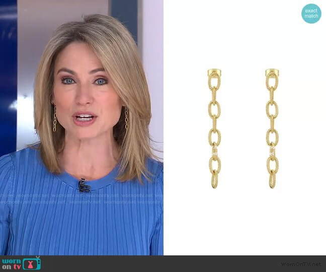Infinity Link Drops by Accessory Concierge worn by Amy Robach  on Good Morning America