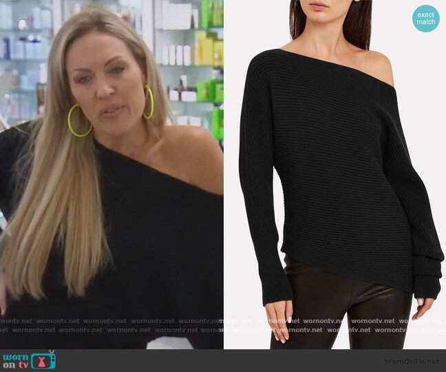 Jacqueline Off-The-Shoulder Sweater by Intermix worn by Braunwyn Windham-Burke  on The Real Housewives of Orange County
