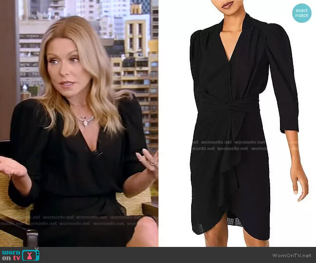 Isee Ruffled Dress by Ba&Sh worn by Kelly Ripa  on Live with Kelly & Ryan