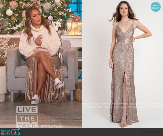 Zelda Dress by Jenny Yoo worn by Carrie Inaba  on The Talk