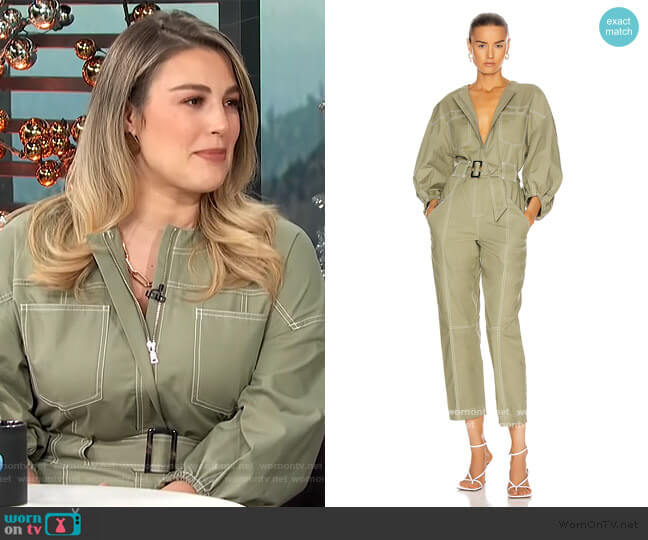 Annika Jumpsuit by Jonathan Simkhai worn by Carissa Loethen Culiner  on E! News