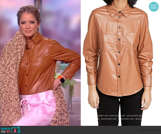 Ryder Pleated Sleeve Shirt by Jonathan Simkhai worn by Sara Haines  on The View