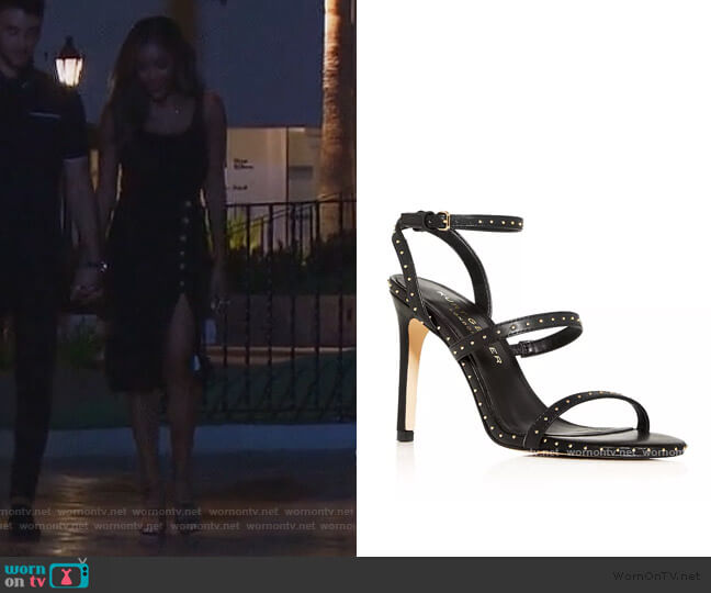 Portia Studded High-Heel Sandals by Kurt Geiger London worn by Tayshia Adams  on The Bachelorette