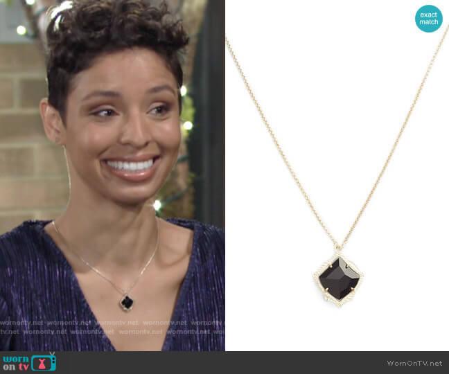 Kendra Scott Kacey Pendant Necklace worn by Elena Dawson (Brytni Sarpy) on The Young & the Restless