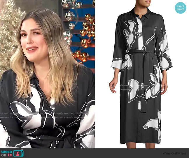 Rhodes Floral Midi Shirtdress by Lafayette 148 New York worn by Carissa Loethen Culiner  on E! News