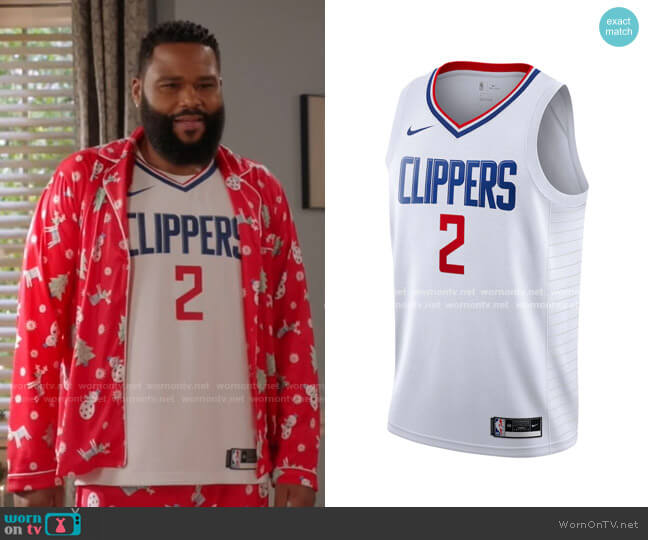 Los Angeles Clippers Kawhi Jersey by Nike worn by Andre Johnson (Anthony Anderson) on Blackish