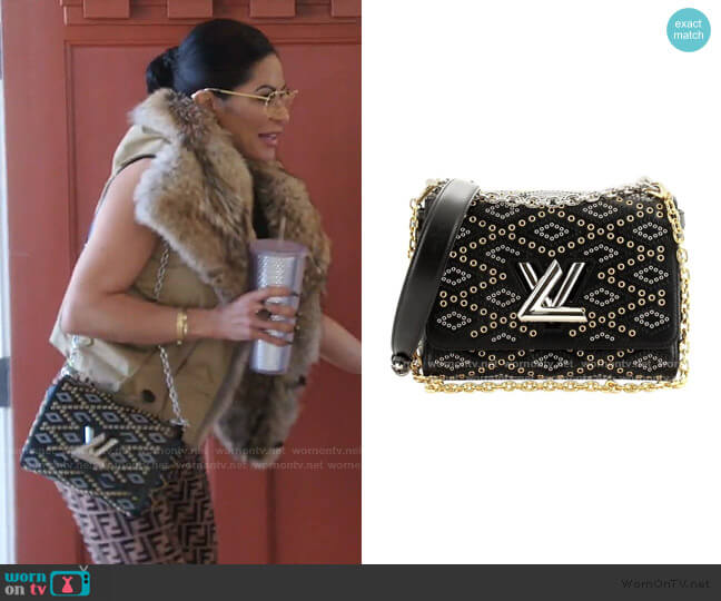 Grommet Embellished Twist Handbag Limited Edition by Louis Vuitton worn by Jen Shah  on The Real Housewives of Salt Lake City