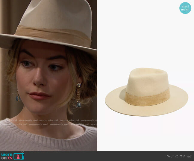 Madewell x WYETH™ Dylan Rancher Hat worn by Hope Logan (Annika Noelle) on The Bold & the Beautiful