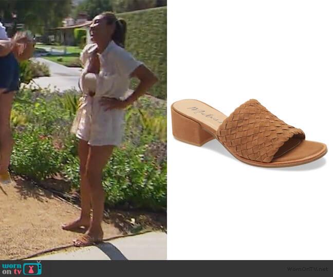 Andi Slide Sandal by Matisse worn by Tayshia Adams  on The Bachelorette