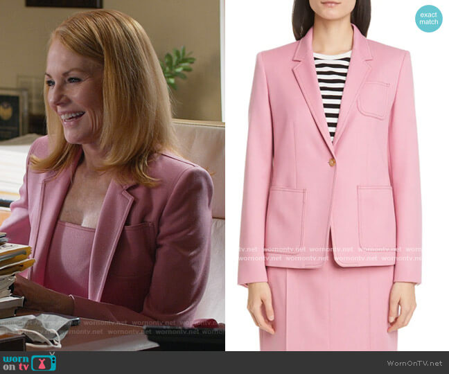 Berlina Topstitch Wool Jacket by Max Mara worn by Lisa Benner (Marg Helgenberger) on All Rise