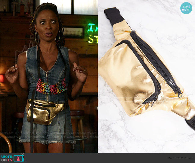 Bum Bag by Prettylittlething worn by Veronica Fisher (Shanola Hampton) on Shameless