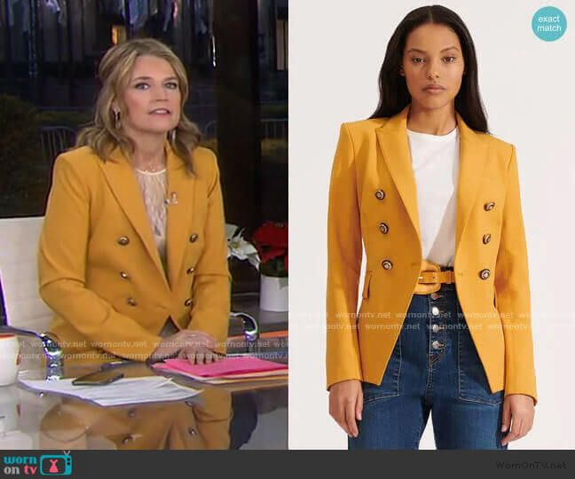 Miller Dickey Jacket by Veronica Beard worn by Savannah Guthrie  on Today