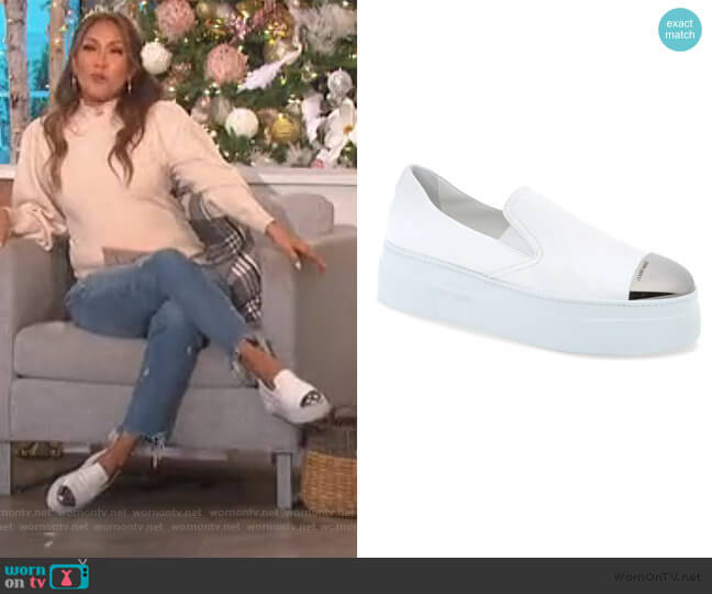 Platform Slip-On Sneaker by Miu Miu worn by Carrie Inaba  on The Talk