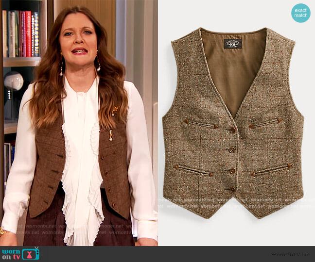 Blend Vest by Ralph Lauren worn by Drew Barrymore  on The Drew Barrymore Show