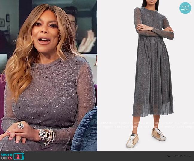 Suri Lurex Midi Dress by Resume worn by Wendy Williams  on The Wendy Williams Show