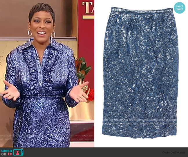 Midi Skirt by Rochas worn by Tamron Hall  on Tamron Hall Show
