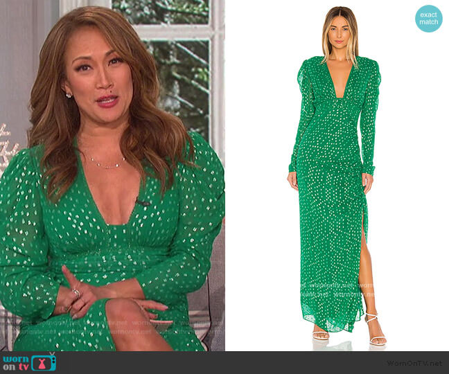 Elna Dress by Rococo Sand worn by Carrie Inaba  on The Talk