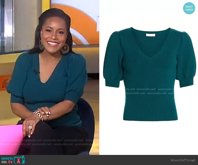 Rory Puff-Sleeve Sweater by Ramy Brook worn by Sheinelle Jones  on Today
