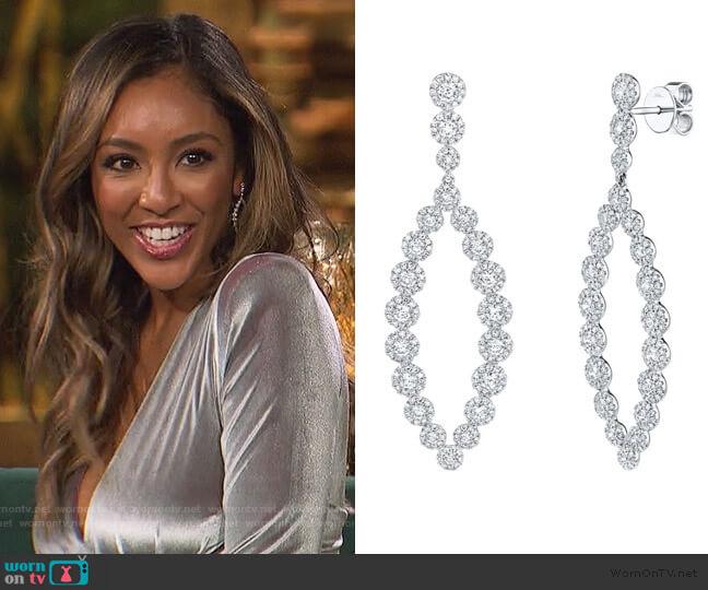 Diamond Earrings by Shy Creation worn by Tayshia Adams  on The Bachelorette