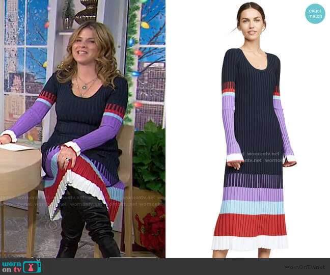 Scoop Neck Colorblock Dress by Prabal Gurung worn by Jenna Bush Hager  on Today