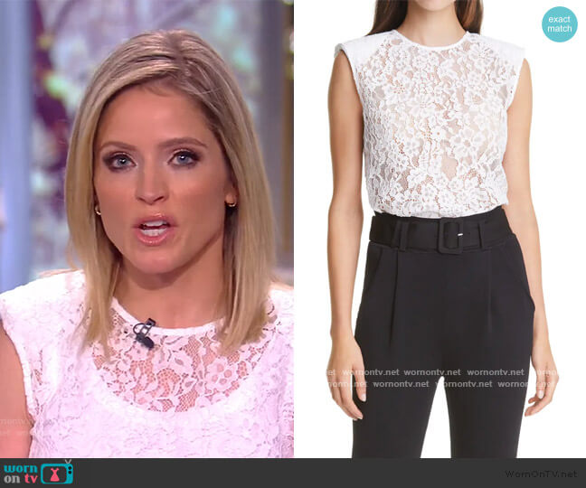 Cord Lace Sleeveless Top by Self Portrait worn by Sara Haines  on The View