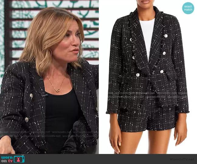 Tweed Blazer by Aqua worn by Kit Hoover  on Access Hollywood