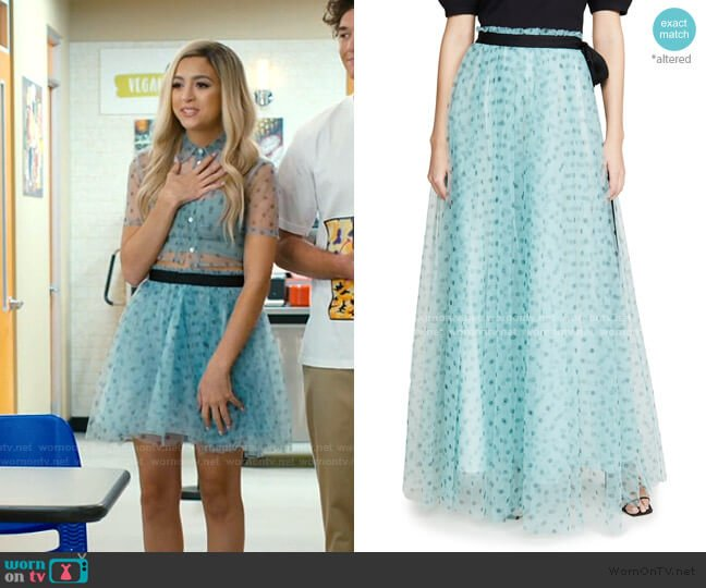 Poppy Skirt by Staud worn by Lexi (Josie Totah) on Saved By The Bell