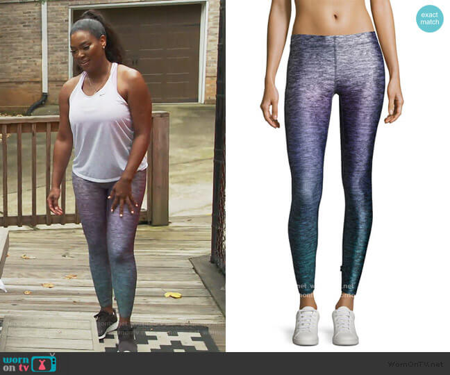 Heathered Ombre Performance Leggings by Terez worn by Kenya Moore  on The Real Housewives of Atlanta