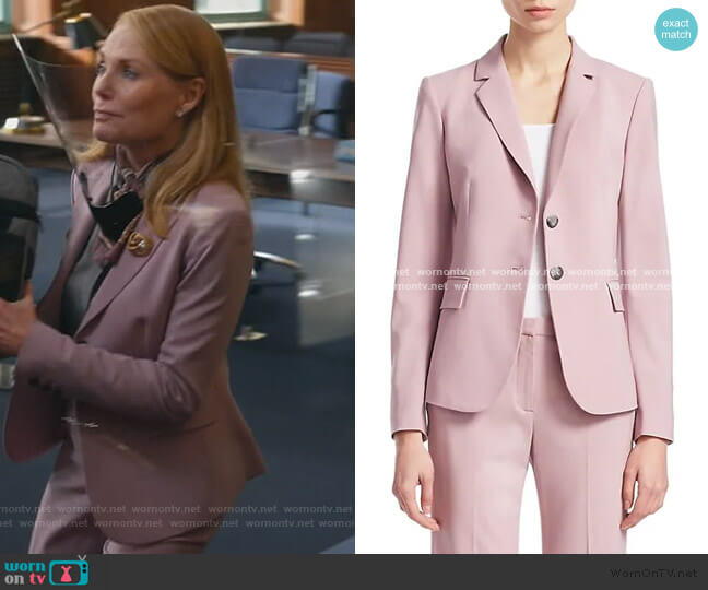 Carissa Wool Blazer and pants by Theory worn by Lisa Benner (Marg Helgenberger) on All Rise