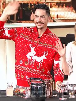 Tom Sandoval's red ugly christmas sweater on E! News