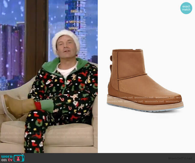 Classic Mini Boots by Ugg x Ovadia worn by Ryan Seacrest on Live with Kelly and Ryan