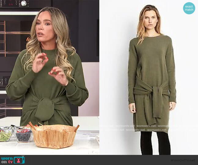 Tie Waist Sweater Dress by Vince worn by Teddi Mellencamp on E! News Daily Pop