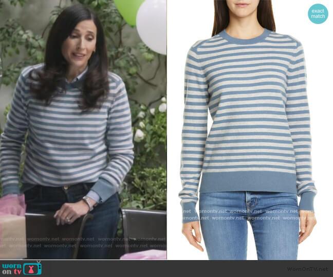 Stripe Cashmere Sweater by Vince worn by Delia (Michaela Watkins) on The Unicorn