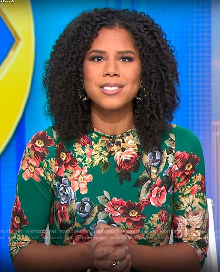 Adriana Diaz's green floral dress on CBS This Morning