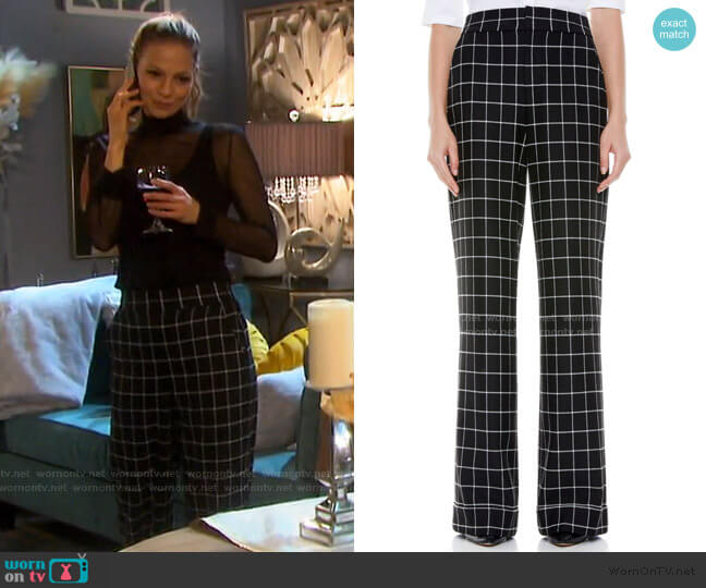 Dylan Check Trousers by Alice + Olivia worn by Ava Vitali (Tamara Braun ) on Days of our Lives
