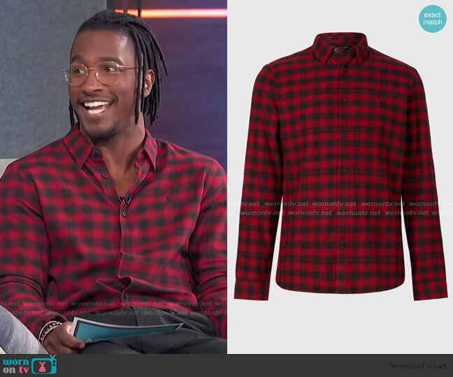 Chetco Shirt by All Saints worn by Scott Evans  on Access Hollywood