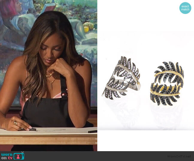 Jungle Ring by Anuja Tolia worn by Tayshia Adams  on The Bachelorette