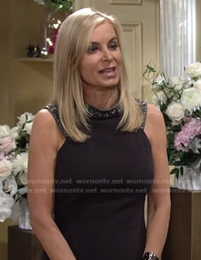 Ashley's black embellished neck gown on The Young and the Restless