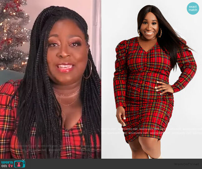 The Priscilla Dress by Ashley Stewart worn by Loni Love  on The Real
